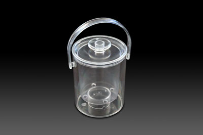 1 Litre table icebucket in clear.